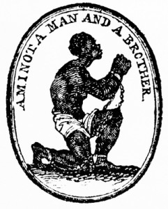 Anti Slavery Seal 1787 by Josiah Wedgewood for the English Committee for the Abolition of the Slave Trade. Image shot 1787. Exact date unknown.